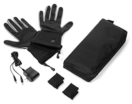 Verseo/ThermoGloves Electric Rechargeable Heated Gloves Thin Enough For Use As Glove Liners (Large/X-Large, - Glove Heated Liners Battery