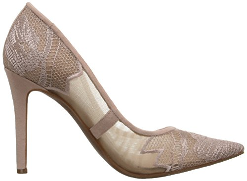 Fancy Jessica Simpson Women's Camba Dress Pump, Black Sheer Nude Blush