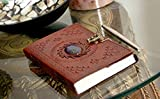 Leather Journal with Semi-Precious Stone & Buckle