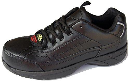 Laforst George 9405 Het Werk Van Mensen Anti-slip Composiet Neus Sneakers Zwart