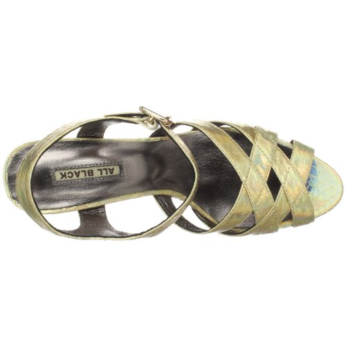 Toutes Les Bretelles Noires De Partie De Womens Sandal Gold