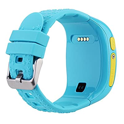 DFyou Bluetooth GPS Tracker Smart Watches SOS Emergency Anti-lost Wristband with Smartphones
