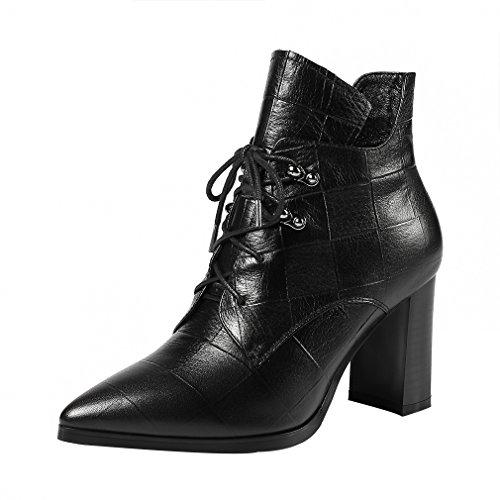 Vaneel Femme vbn8 8CM Bloc Fermeture Éclair Bottes Chaussures Noir PuyTviFD