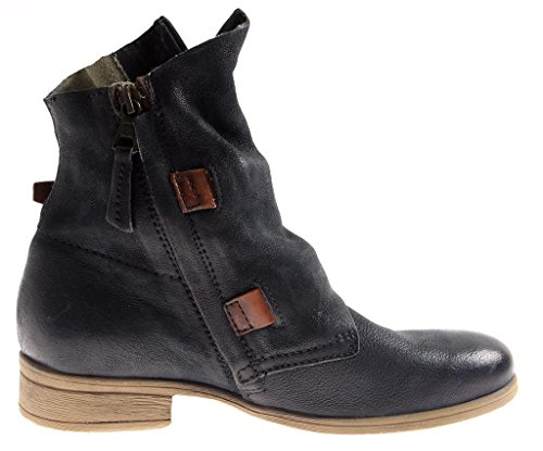 En Cuir Isabelle Femmes Bottes D'été Bottine Motard 8747 Marine Chaussures 5rrxTwY