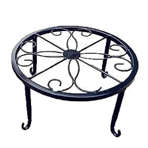 Bodhi 2000Maceta redonda de metal jardín patio steht Planta Maceta Rack pantalla Estantería Mantiene Decoración