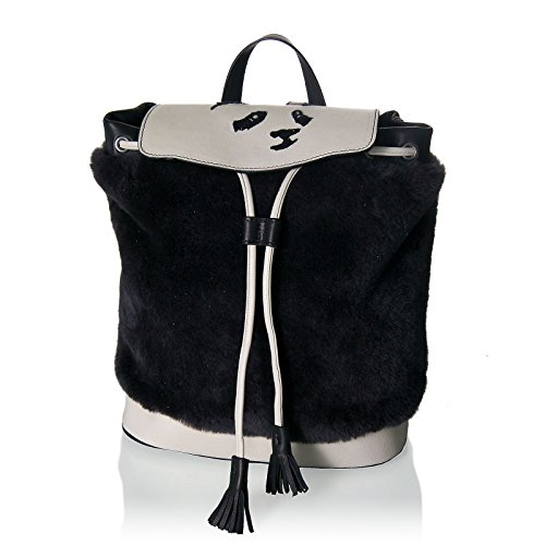 Stomacher - Bolso mochila  de Piel para mujer negro negro