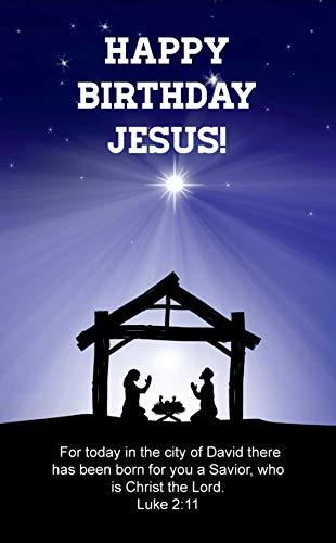 (Happy Birthday Jesus Party Supplies, Pocket Cards, Prayer, Bookmarks, Christmas Ideas, 50 Pack, Bulk)