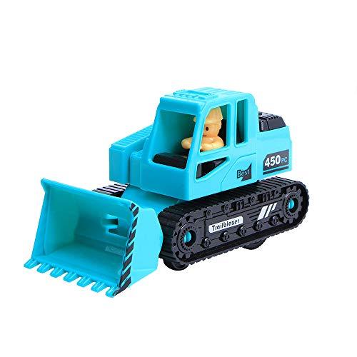 LiPing 車両 子供用 おもちゃ 装飾 ダイカスト プルバック ブルドーザー モデル ギフト 車 玩具 トラック 遊び ギフト 対象年齢 2 3 4 5 6歳 子供 幼児 男の子 女の子 M マルチカラー LiPing