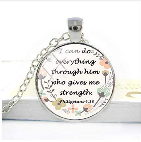 Bible Quote Pendant Necklace