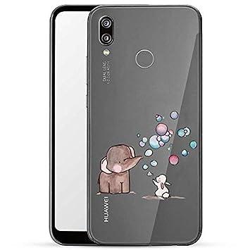 Finoo H/ülle f/ür Huawei P20 Handyh/ülle mit Motiv und Optimalen Schutz TPU Silikon Tasche Case Cover Schutzh/ülle Farbkacheln