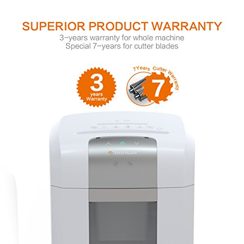 Bonsaii EverShred Pro 6-Sheet Micro-Cut Paper/CD/Credit Card Shredder, 60 Mintues Continuous Running with 4 Easy Move Casters,High Security P-5, White (4S16) by bonsaii (Image #5)