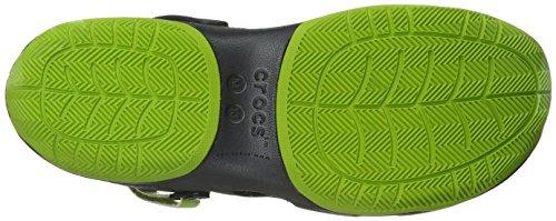 crocs Herren Swiftwater Deck Clog Men Grau (Graphite/Volt Green)