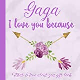Gaga I Love You Because What I love About You Gift