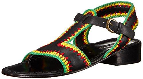 Di Sandalo Donne Crochet Comey Rachel Reggae Di Nero Piatta Baie dwPYqOq