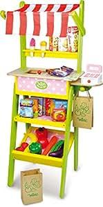 Vilac 8170 - Puesto de la compra de juguete con accesorios
