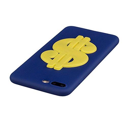 iPhone 7 / 8 Plus Hülle , Leiai 3D Geld Leicht TPU Weich Tasche Schutzhülle Silikon Etui Handyhülle Stoßdämpfende Schale Fall Case Shell für Apple iPhone 7 / 8 Plus