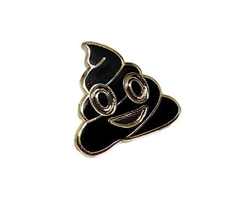 Pile of Poo Lapel Pin - Poop Funny Emoji Enamel Brooch - Jacket Hat Pin (Gold) (Ball Watch Engineer Ohio)