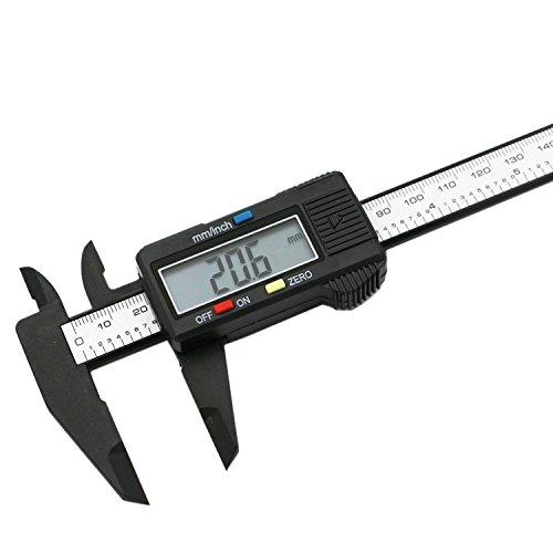 1Pc 150mm 6inch LCD Digital Electronic Carbon Fiber Vernier Caliper Gauge Micrometer