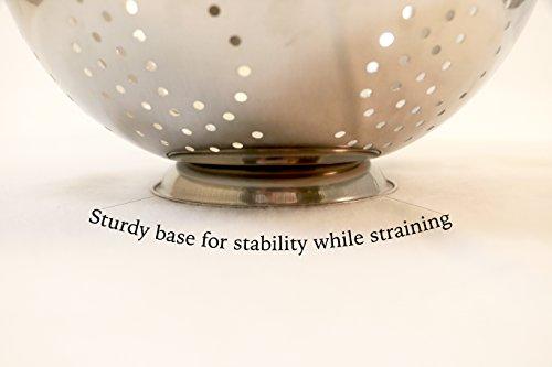 ExcelSteel 242 5-Quart Stainless Steel Colander