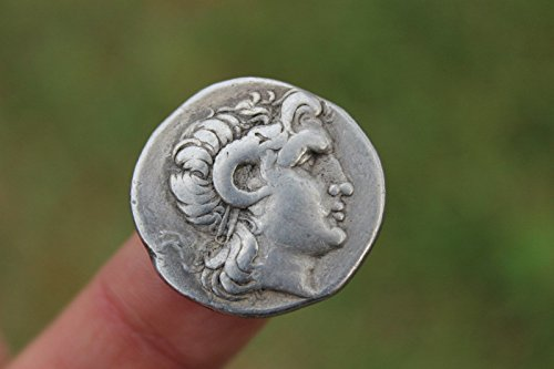 Greek silver coin Alexander the Great Tetradrachm 16.45 g, Lysimachus, 298-281BC ()