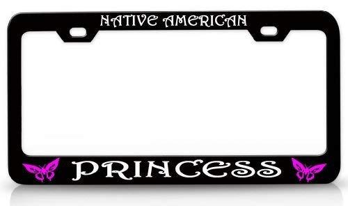 Native American Princess Butterfly Princess License Plate Frame,