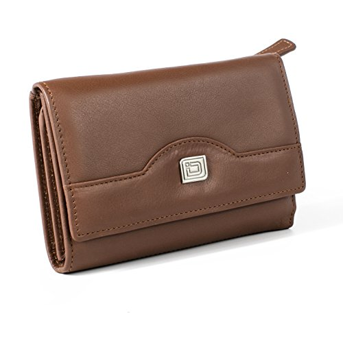 Ladies Compact Leather Trifold - RFID Wallets for Women - Top Quality Leather - RFID Protection and Security by ID Stronghold