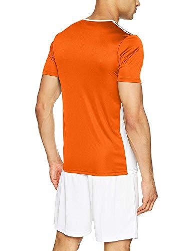 T orange white Uomo Adidas shirt Entrada 18 Arancione 6xq6T8wF