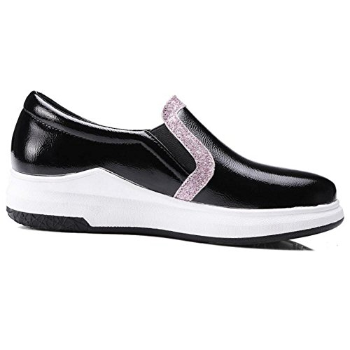 Trainers On KemeKiss Slip Black Shoes Casual Women xCHIwqz