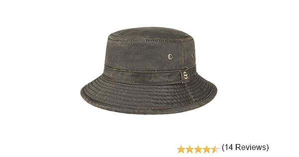 Ribete Verano//Invierno Pescador moldeable con Ribete Stetson Sombrero de Tela Drasco Hombre