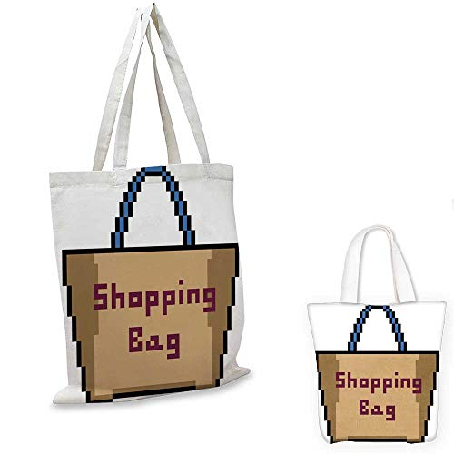 - shopping bag storage pouch vector pixel art isolated cartoon