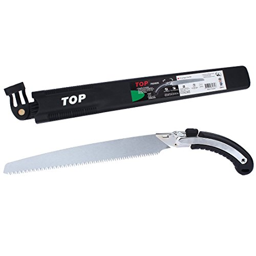 Heavy Duty Pruning Saw,Comfort Handle with Saw Blade Enclosure - Japanese Style Hand Saw - Perfect for Trimming Trees, Plants, Shrubs, Wood, and More! by Durmiles