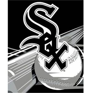Ncaa Bedrest Pillow - Chicago White Sox Royal Plush Raschel MLB Blanket (Big Stick Series) by Northwest (50