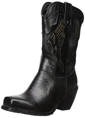 "Ride Tec Women's 8547 11"" Laser Eagle Black Work Boot Black"