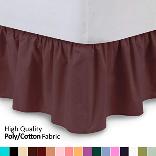 - Shop Bedding Ruffled Bed Skirt (Full, Burgundy) 14 Inch Drop Dust Ruffle with Platform, Wrinkle and Fade Resistant - by Harmony Lane (Available in All Bed Sizes and 16 Colors)