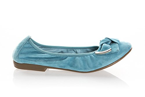 RENZI 6552 Turquoise Suede Italian Shoes Designer Flats Summer Shoes Italian B07CG4SR58 Shoes 522cc1