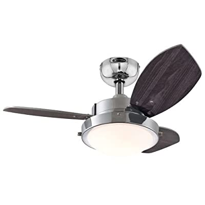 """Westinghouse 7224500, Wengue Espresso 30"""" Ceiling Fan with Light"""