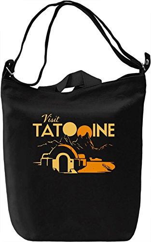Tatooine Borsa Giornaliera Canvas Canvas Day Bag| 100% Premium Cotton Canvas| DTG Printing|