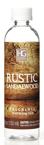 Aromatherapy Hosley's Premium Rustic Sandalwood Scented Warming Oils-Set of 2 / 6 fl oz ea.Made in USA.. BULK BUY. Ideal GIFT for weddings, spa, Reiki, Meditation, Bathroom settings W1 (Warming Oil Diffuser)