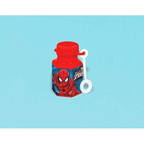 Amscan Party Favor Ultimate Spider-Man Mini Bubbles, Party Favor, 48 Ct, Multicolor