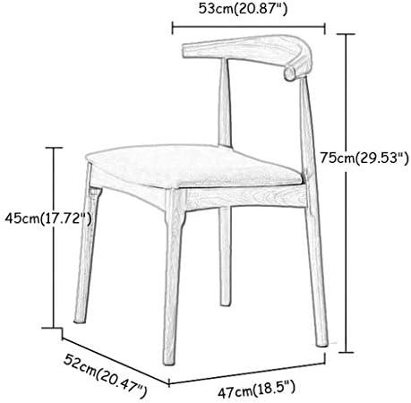 Chaises De Salle À Manger en Tissu De Style Chaise De Cuisine Rembourrée avec des Pieds en Bois De Noyer Robuste pour Cuisine Salle À Manger Salon