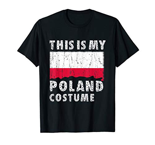 Poland Halloween Costumes (This is My Halloween Polish Costume T-Shirt Poland Flag Gift)