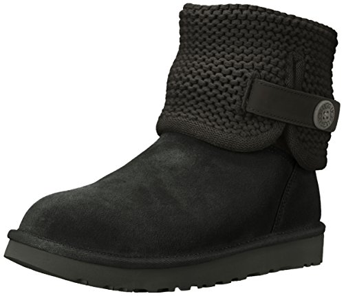 UGG Women's Shaina Slip on Slipper, Black, 5 M US for sale  Delivered anywhere in USA