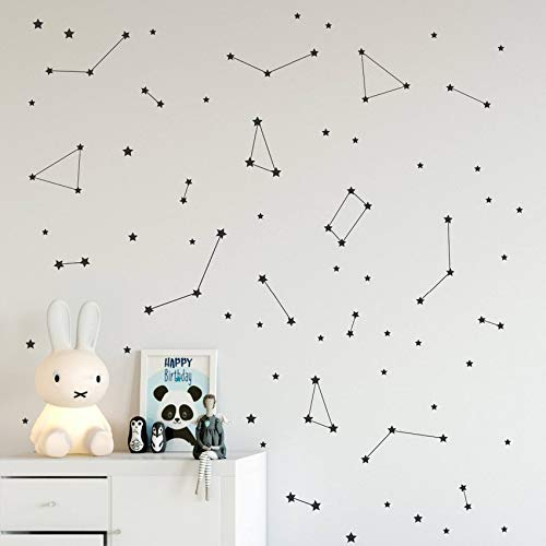CFLEGEND Constelación Tatuajes de Pared Dormitorio para niños ...