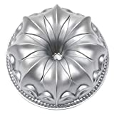 Fleur de lis Bundt Cake Pan Fluted Tube Cake Pan Nonstick Lily Cast Aluminum 10 Cup Platinum Collection Baking Bundt Pan Mold for Baking