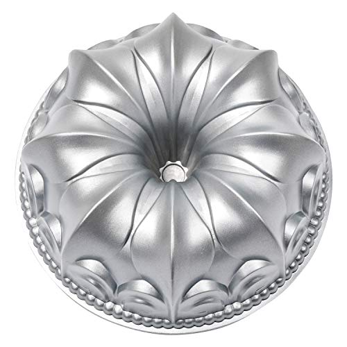 Bundt Pan Classic Cast aluminum Cake Baking Pan, Warp Resistant Nonstick Round Baking Pan For Cooker And Oven 10-inch Fluted Tube Cake Pan Mold