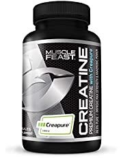 Muscle Feast Creapure Creatine Monohydrate Capsules - Pre-Workout Or Post-Workout Convenient Easy To Take Pills Gluten-Free (750Mg, 120 Capsules)
