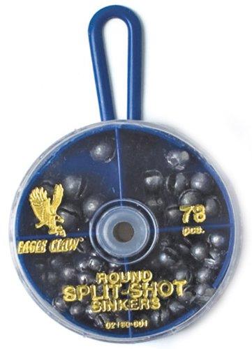 Eagle Claw Split Shot Sinker Assortment, 78 PC