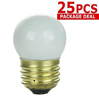 SUNLITE 7.5w S11 120v Medium Base White Bulb 25pcs