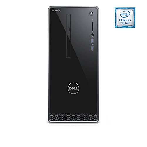 Dell Inspiron i3668 Desktop - 7th Generation Intel Core i7-7700 Processor up to 4.2 GHz, 32GB DDR4 Memory, 256GB SSD + 2TB SATA Hard Drive, Intel HD Graphics, DVD Burner, Windows 10 Pro