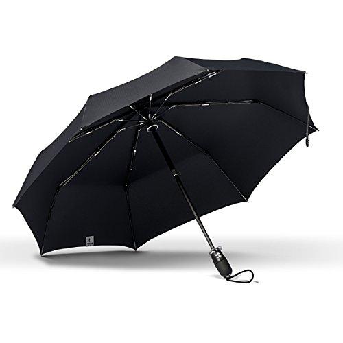 ShedRain Stratus Collection Dualmatic Auto Open/Auto Close Compact Umbrella - Matte Black TPR Grip